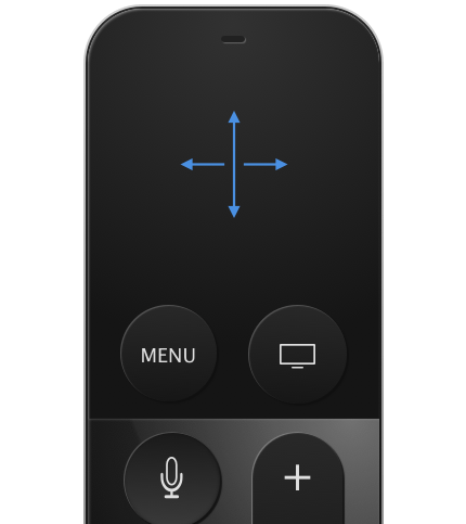 Siri Remote dashboard interactions