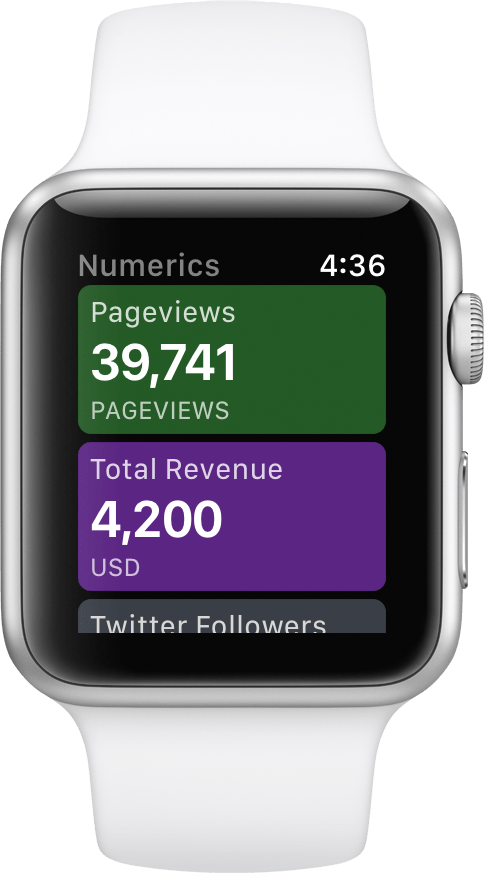 Numerics for Apple Watch