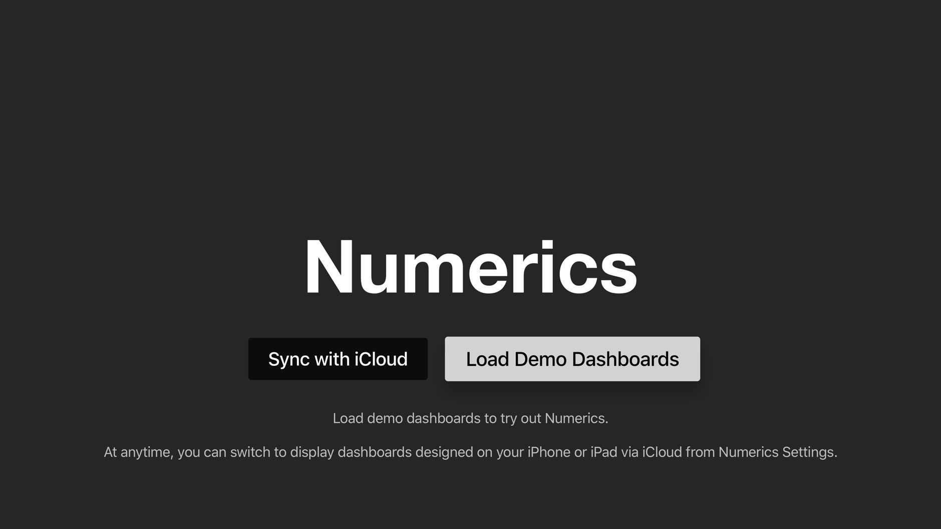 Load Demo Dashboards
