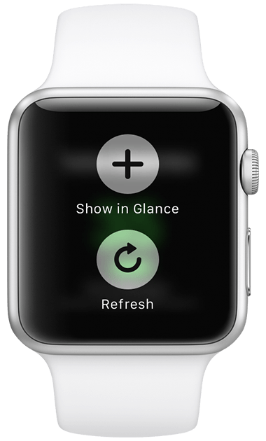 Numerics watch add to glance