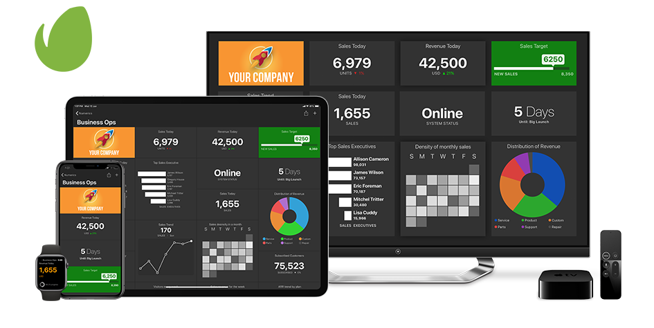 Envato Dashboards on iPhone, iPad, Apple TV and Apple Watch