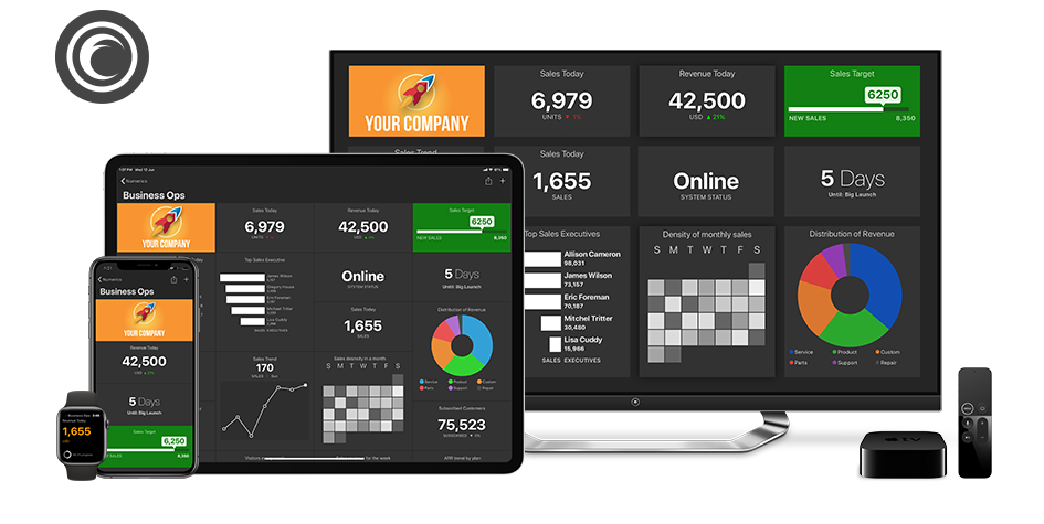 Flurry Dashboards on iPhone, iPad, Apple TV and Apple Watch