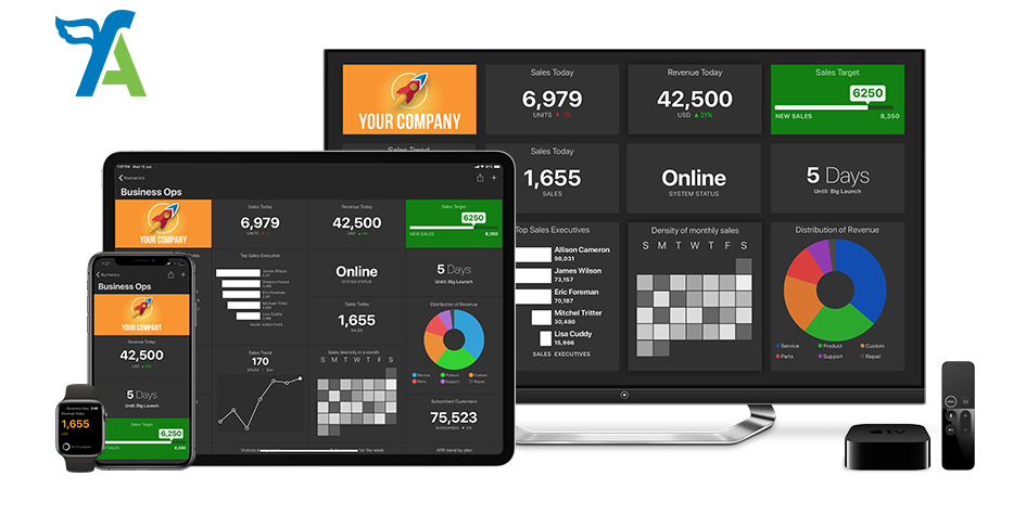 FreeAgent Dashboards on iPhone, iPad, Apple TV and Apple Watch