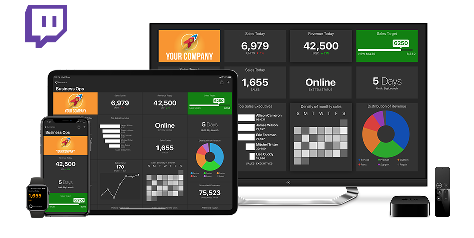 Twitch Dashboards on iPhone, iPad, Apple TV and Apple Watch