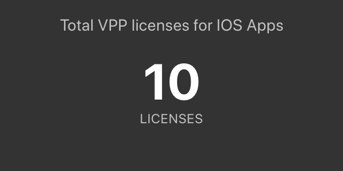 Remaining VPP licenses for iOS apps